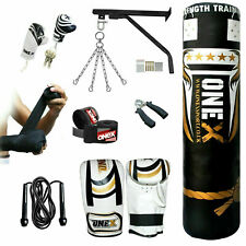 13 Piece 5ft Punch Bag Heavy Filled Boxing Set Kickboxing Training Bags MMA Gym