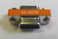 DB9 Female / Female  Null Modem mini gender changerl RS232 gender changer Adapte