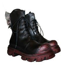 Combat, Stiefel, Boots, Black, Papucei, Leder, Gr. 37 - 41, Schwarz, Damen