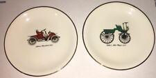"Vintage Decorative Transportation Memorabilia Plate Pair 4 5/8"" Marker Pottery"