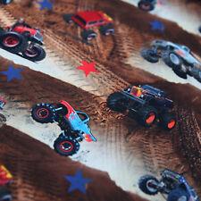 Jersey Stoff Monster Trucks Digitaldruck Desert Trucks - Toller Kinderstoff