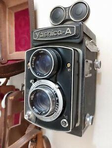 Yashica A, waist level finder, 6x6 camera, lens Yashimar 3.5/80mm (for parts)