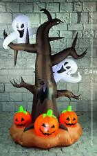 GIANT 2.4M INFLATABLE TREE GHOST PUMPKIN LIGHT UP HALLOWEEN PARTY DECORATION 956