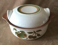 Vintage (1962-1978) STANGL ORCHARD SONG 1.5 Quart Round Covered Casserole