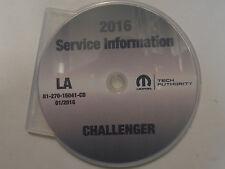 2016 Dodge CHALLENGER Service Shop Repair Workshop Manual CD DVD NEW