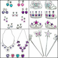 50pcs Princess Jewelry Dress Up Accessories Toy Playset for Girls Beauty Set Kit
