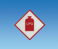 Caravan/Motorhome TUFFLEX LPG Gas Locker Warning Sticker/Decal NONE FADING!