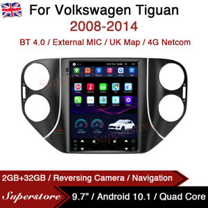 "9.7"" Tesla Style Android 10.1 Car Stereo Navi For Volkswagen Tiguan 2008-2014 UK"