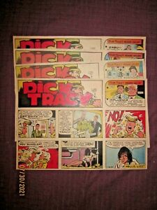 1982 -4 WEEKS DICK TRACY  COLORED SUNDAY NEWSPAPER COMIC STRIPS