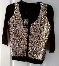 Women's Medium Knit 3/4 Sleeve Button Viscose Jumpers & Cardigans