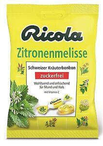 (2,13€/100g) 5 x Ricola Zitronenmelisse Hustenbonbons ohne Zucker 75g = 375g