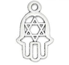 5 pcs Pendants Dangle Charms Hamsa Hand Palm Star of David jewelry finding c138