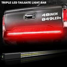 "1x 48"" Red TRIPLE LED Tailgate Light Bar Amber Turn Signal Brake White Reverse"
