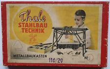 Metallbaukasten Thale Stahlbautechnik Nr 1 um 1957 DDR