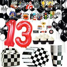 Racing Car Party Tableware Boys Birthday Party Decoration Supplies Disposable