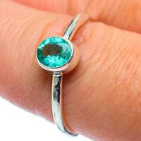 Zambian Emerald 925 Sterling Silver Ring Size 8 Ana Co Jewelry R37449F