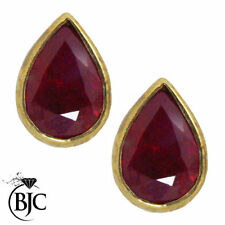 Stud Natural Ruby Not Enhanced Fine Earrings