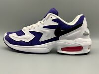 Nike Air Max2 Light White/Black Court Purple - Max 2 Violet Blanc