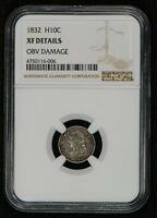 1832 H10C CAPPED BUST HALF DIME, EARLY U.S. COIN *NGC XF DETAILS* LOT#S929
