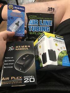 Aquarium Masters Air Pump And Sponge Filter Full Kit For Tanks Up To 20 Gallons