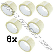 6 ROLLS OF CLEAR PARCEL PACKING CELLOTAPE OF 48mm x 66M STRONG PACKING ADHESIVE
