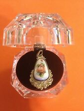 #12 Authentic Russian Jewelry German Silver Finift Pendant Vintage Filigree