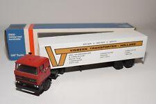 ± LION CAR DAF 3300 TRUCK WITH TRAILER VISBEEN TRANSPORTEN NEAR MINT BOXED