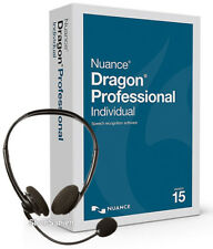 Nuance Dragon Professional Individual 15 - New Retail Box, Headset Included