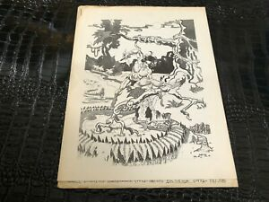DEC 1973 BULL DOG fanzine - comic strips - TARZAN
