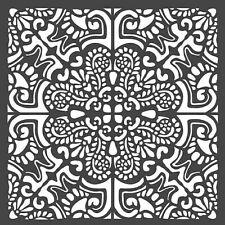 Stamperia Mixed Media Art Stencil Azulejos Tiles  NEW   18 x 18 cm