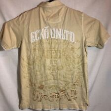 ECKO UNLTD Mens Yellow Gold Cotton Polo Shirt Size Large