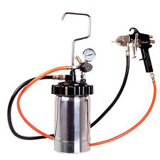 Réservoir de 2 litres Pistolet à peinture Ajutage 1,8mm 2x de tuyau Régulateur