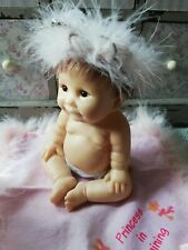 """Ashton Drake Baby Doll Feather Hat and Blanket 5.5"""" - Princess in Training"""