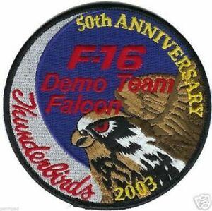 USAF F-16 THUNDERBIRDS DISPLAY DEMO TEAM 2003 50TH ANNIVERSARY iron-on PATCH