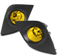 2014 2015 2016 TOYOTA COROLLA ECO CE L LE YELLOW FRONT BUMPER FOG LIGHTS W/COVER