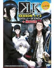 K Anime DVD (Season 1+2) (Eps : 1 to 26 end + Moive) English Subtitles