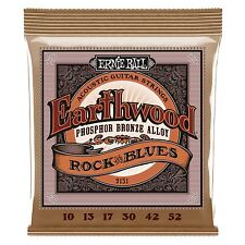 Ernie Ball Earthwood fósforo Bronze Rock 'n' Blues Guitarra Acústica Cuerdas 10-52