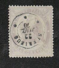 TIMBRES FRANCE : TELEGRAPHES 1868 YVERT N° 8 Oblitéré - 2 FRANCS VIOLET - BE