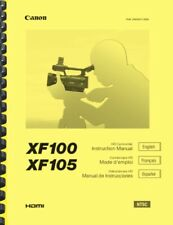 New listing Canon Xf100 Xf105 Camcorder Owner'S Instruction Manual