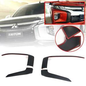 Side Front Bumper Cover Matte Black Trim For Mitsubishi L200 Triton MR 2019-2020