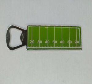 50 Yard Line Football Field Game Day Portable Bottle Opener Chrome & Resin