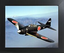 WWII Japanese Zero (A6M Zero) Military Airplane Aircraft Aviation Framed Picture
