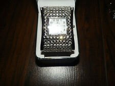 Quartz Watch Silver Watch Rhinestone Watch Bracelet Watch New $80
