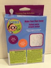 Make Your Own Snow -Science for Kids Thinking Cap Activities Fun Project