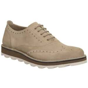 Men's Clarks DARBLE LIMIT Beige Sand Suede Lace-Up Casual Shoes - Brogue Detail