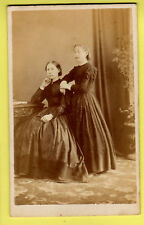 Victorian CDV - Ladies wearing Crinoline Dress - Sam Glen Payne - Aylesbury
