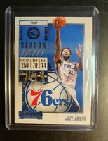 2018-19 NBA 🏀 PANINI CONTENDERS JOEL EMBIID SEASON TICKET for the 76ERS mint .