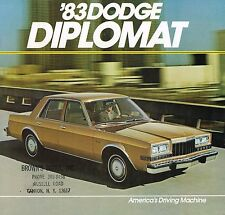 1983 Dodge DIPLOMAT Brochure / Catalog w/Color Chart: MEDALLION, SALON