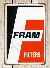 Fram Filters Vintage 1970's racing decals metal tin sign home interior