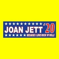 """JOAN JETT '20"" I Love Rock 'N' Roll President BUMPER STICKER & the Blackhearts"